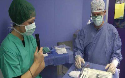 In sala operatoria: correzione del piede piatto nel bambino